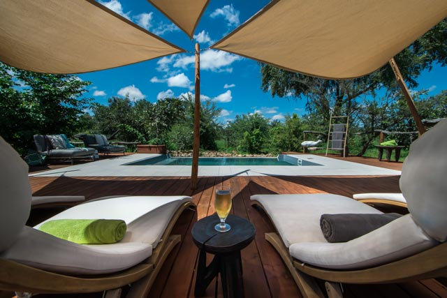 Relax by the pool side on safari