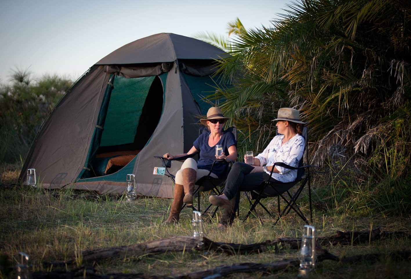 Fly camp adventures Botswana