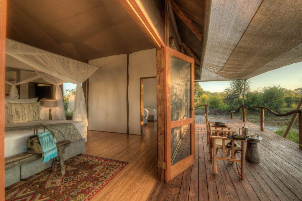 Private decking safari lodge