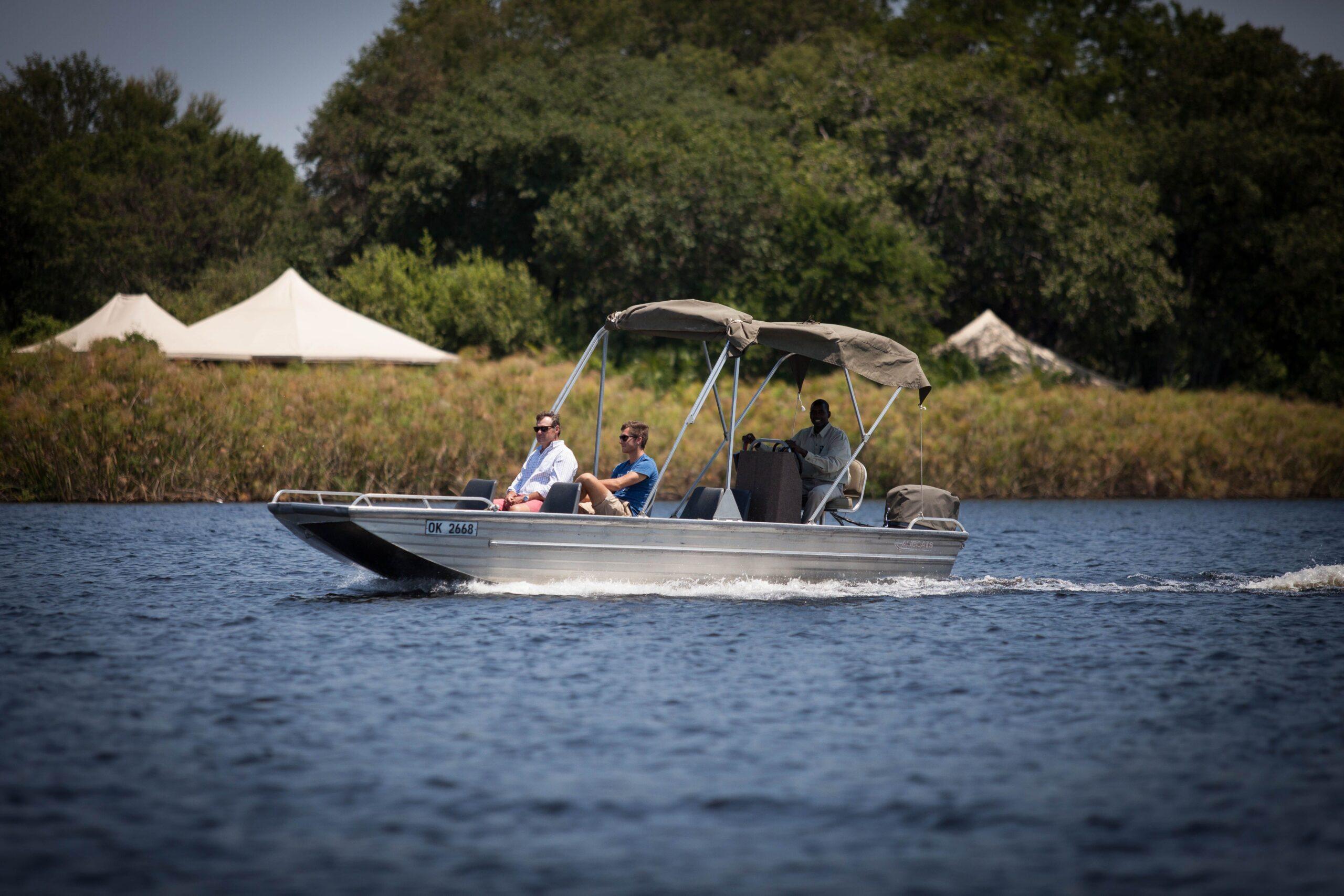 Boat trip through the Okavango Delta